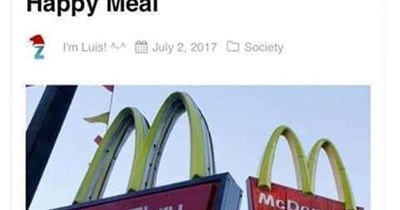 """Headline that reads, """"Man Sues McDonald's for Still Being Depressed After Eating Happy Meal"""""""