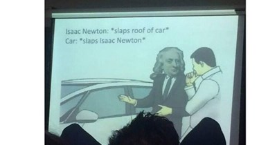 Funny meme about professor who shares memes.