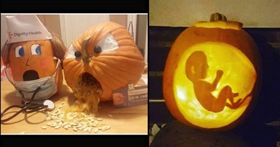 Funny pics of medical-themed jack o-'lanters