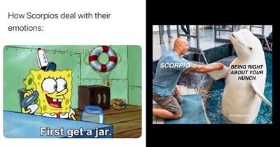 Funny memes about scorpios, astrology memes, scorpio season