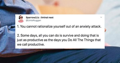 A collection of tweets from people sharing their best takeaways from therapy.