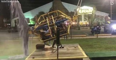 ride countdown scary FAIL amusement park florida launch tense intense slingshot - 99002113
