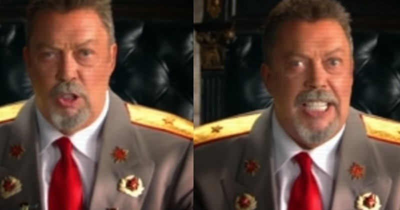 Video Tim Curry Desperately Trying Not To Laugh During Cutscene