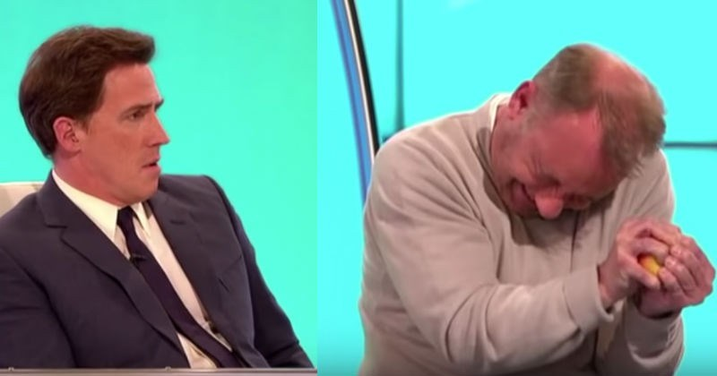 Video Bob Mortimer Claims He Can Break Apple In Half With Bare Hands
