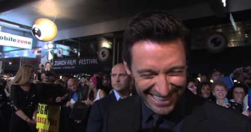 wholesome students awesome hugh jackman celeb education Video - 101955841