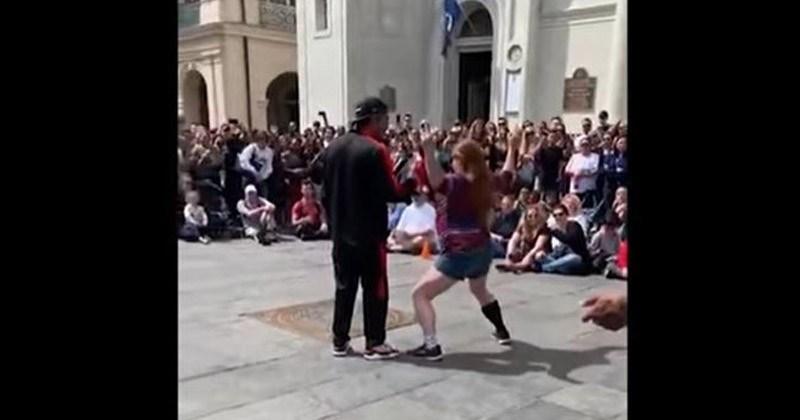 Stubborn Karen Ruins Everyone's Day During A Street Performance