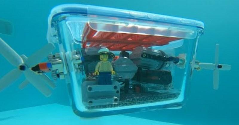 Man Builds LEGO Submarine Using Magnets