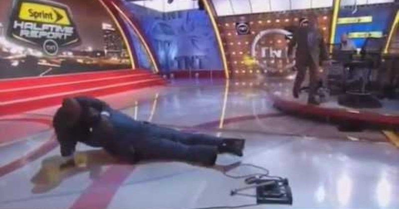 Shaq Falls On Live TV, It's Wholesome Gold