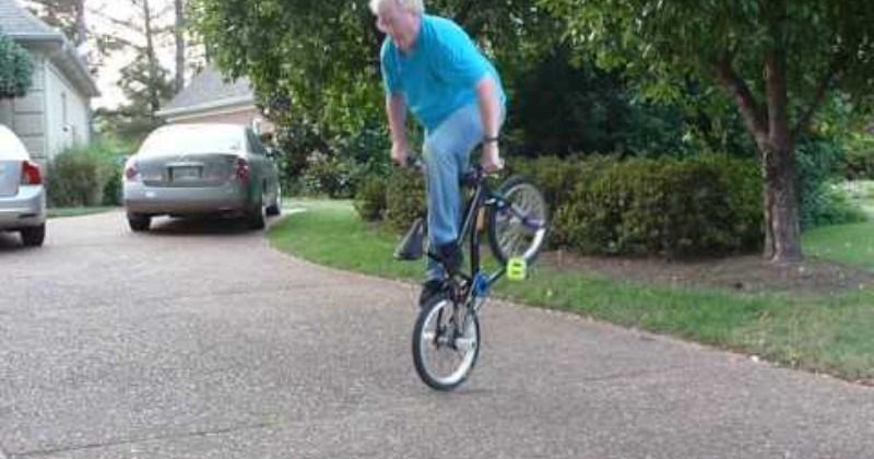 Grandpa's BMX Skills Are Off The Charts