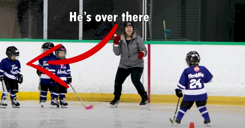 Dad Mics Up 4-Year-Old For Hockey Game