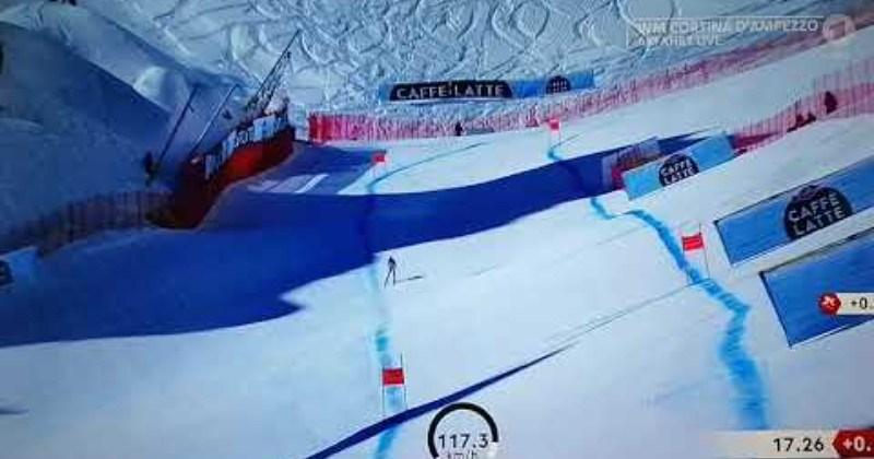 crazy skiing accident close call