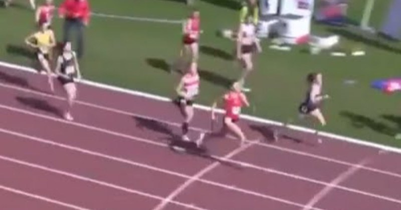 Track Star Pulls Off Miraculous Comeback