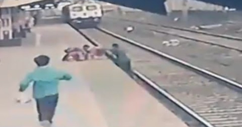 Heroic Railway Employee Rescues Child From Oncoming Train