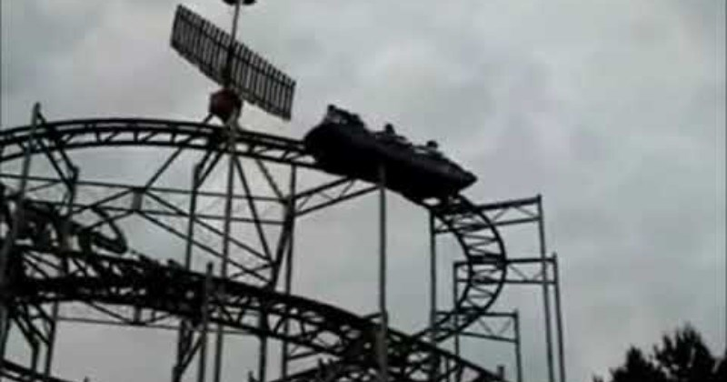 Stuck Group Restarts Roller Coaster With Headbanging