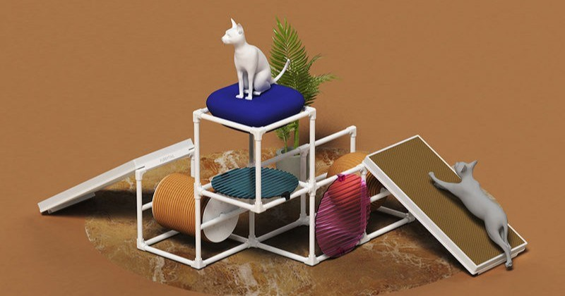 Modular Cat Home That Changes According To Your Pet Needs