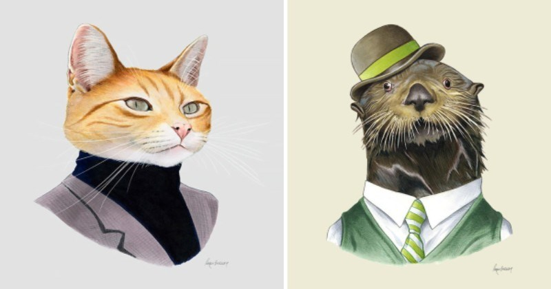 Animals In Suits: Portraits Of Very Well Dressed Animals