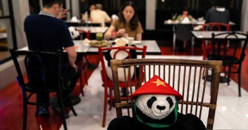 A Vietnamese Restaurant Placed Stuffed Pandas To Keep Their Diners Company