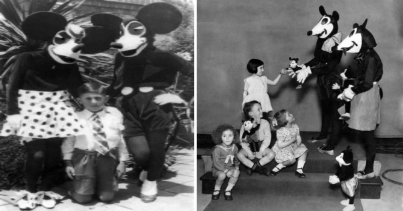 Vintage Photos Show That Mickey Mouse Used To Look Quite Creepy