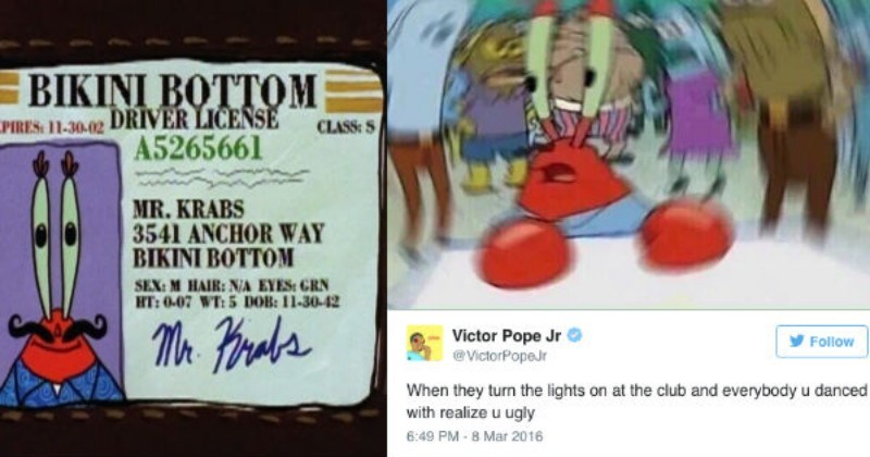 Here Are 24 Of Our Favorite Blurred Mr Krabs Memes In Honor Of His 74th Birthday Geek Universe Geek Fanart Cosplay Pokemon Go Geek Memes Funny Pictures