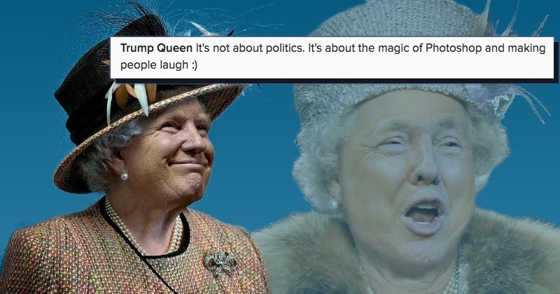 Donald Trump's Face Was Photoshopped Onto Queen Elizabeth and All We
