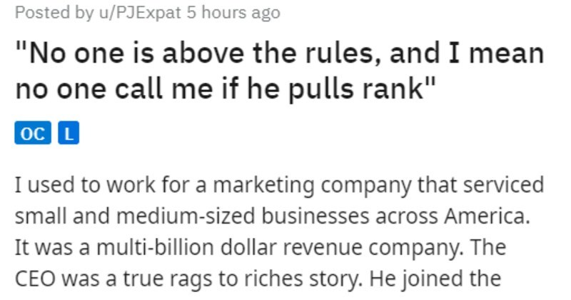 """cool CEO fires bad VP work story 