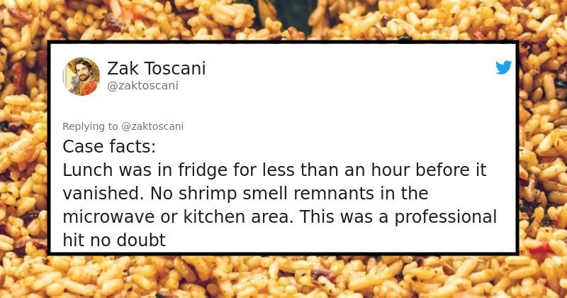 Twitter Thread: The Cold-Blooded Office Shrimp Thief