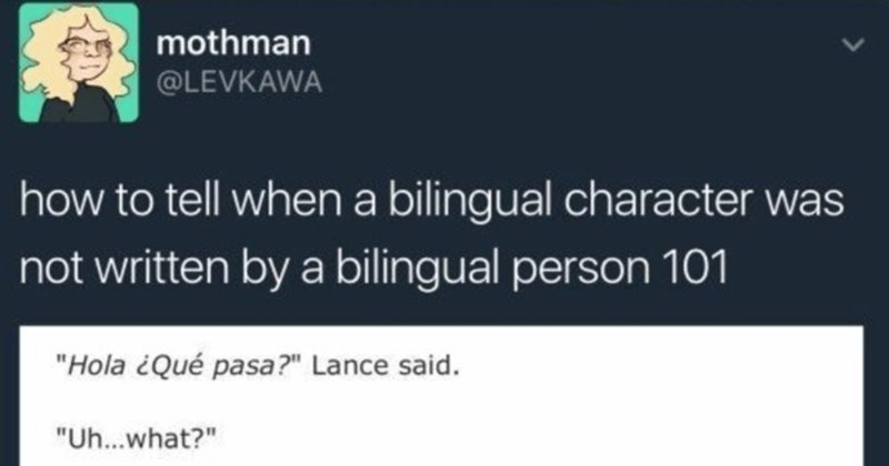 Tumblr Thread: Bilingual Struggles Inspire Hilarious Fails