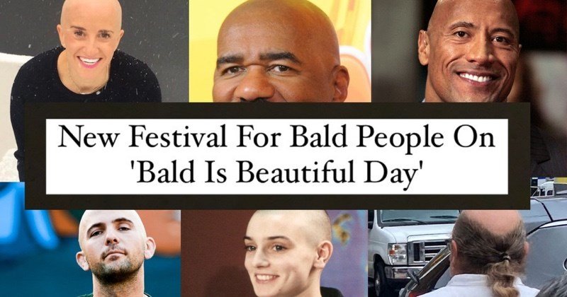 Hair Is Overrated: First-Ever Bald Festival Takes Place in NYC| Thumbnail Text - Hair - New Festival For Bald People On 'Bald Is Beautiful Day'