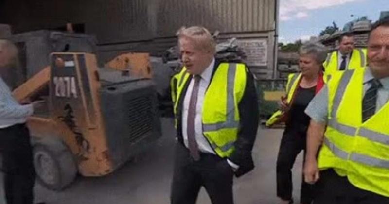 Boris Johnson Zipline Gif