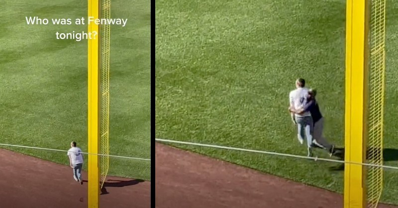 Dude Tries To Sneak Onto Fenway Field, Gets Crushed