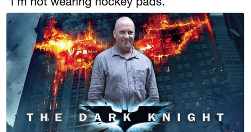 Funny Meme about Christian Bale's transformation into Dick Cheney.