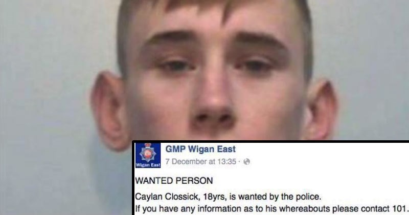 Runaway criminal gets trolled on a Facebook post that's asking for his whereabouts.