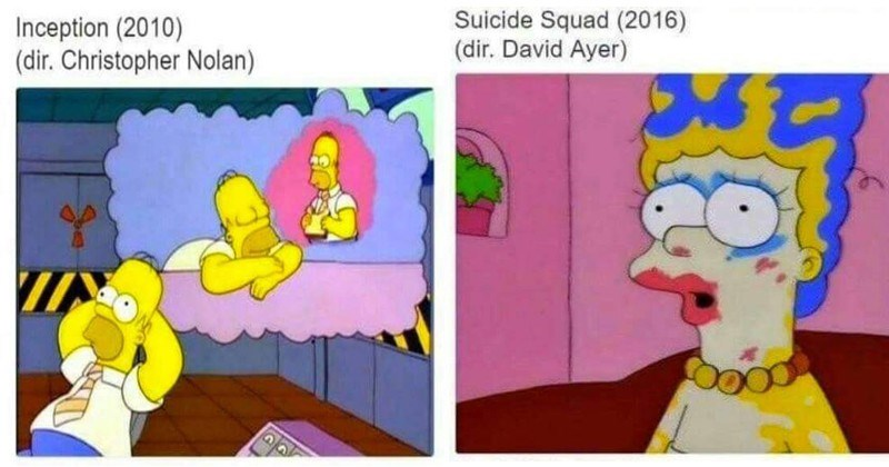 Funny memes of the simpsons that correlate with popular movies.