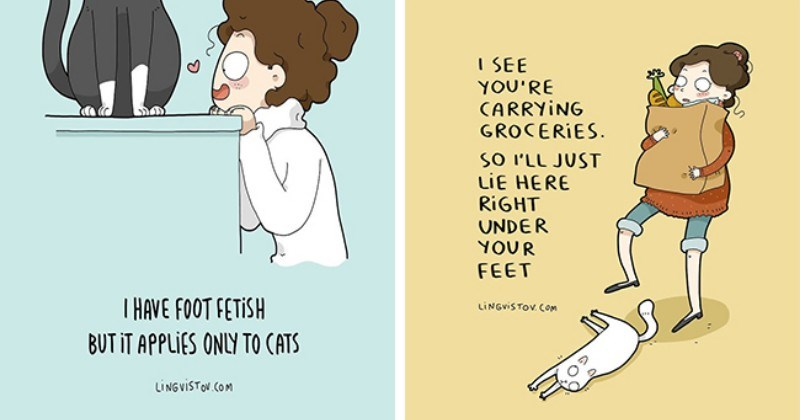 Comics Lingvistov Is Back With 24 Illustrations Summarizing His Life As a Cat Owner