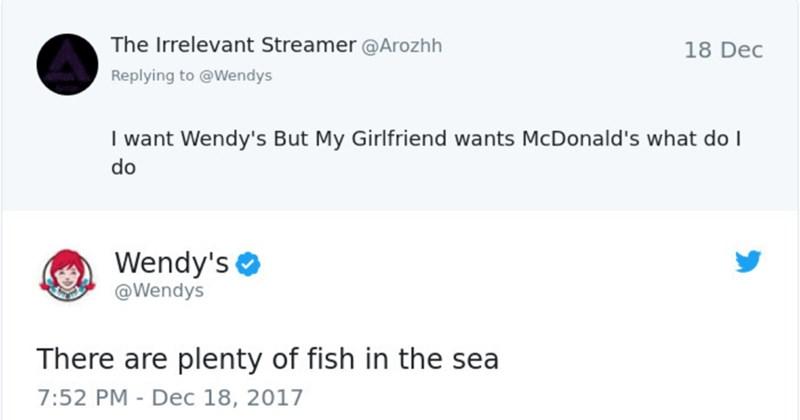twitter wendy's twitter twitter roast adam savage Memes wendys roast burgers fast food - 6006533