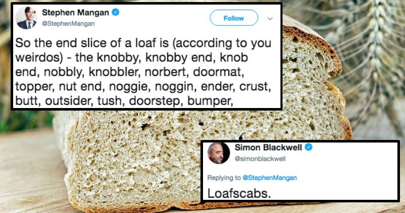 twitter english words crust trivial language loaf bread argument food funny twitter funny stupid - 7335941