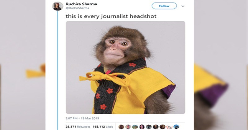 twitter journalists headshots tweets monkey funny tweets funny - 7987205