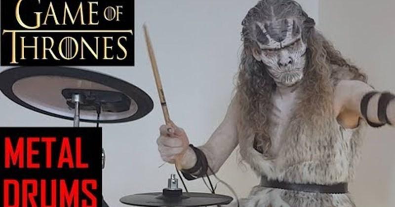 metal intro Game of Thrones drummer drums Video - 80619009