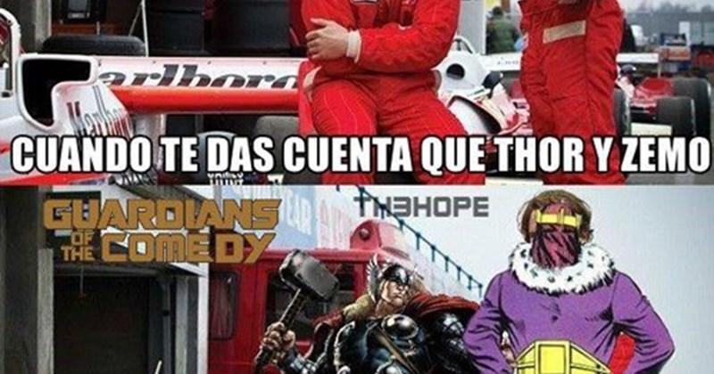 Thor y Zemo