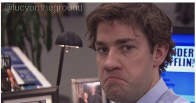 """Jim Halpert meme with the caption, """"When it's time for lunch, but you already ate your lunch"""""""
