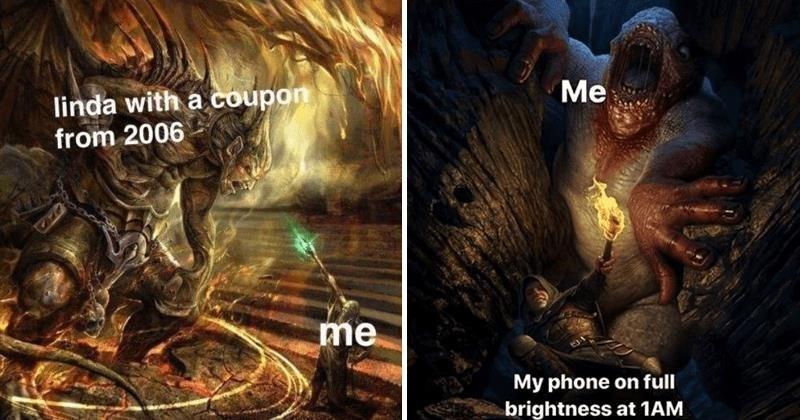 Fantasy illustration memes, fantasy art memes, fighting, vilence, funny, funny memes