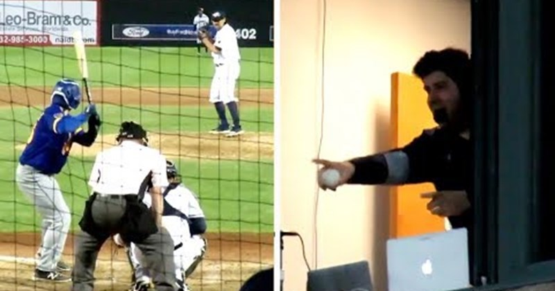 narration foul sports announcer catch awesome baseball highlights foul ball funny win lucky - 97381377