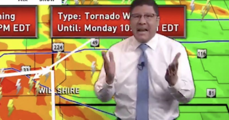Video Triggered Ohio Meteorologist Calls Out Viewers As Tornado Warning Interrupts The Bachelorette