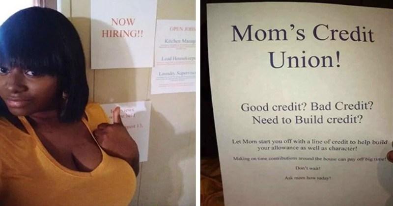 mom hiring kids funny