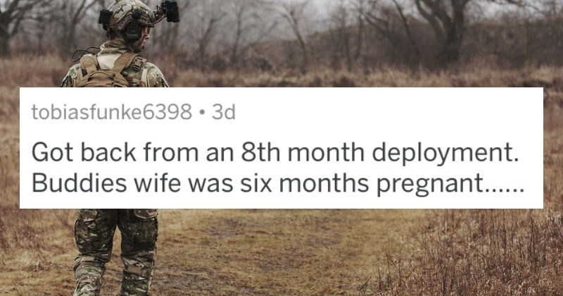 Service members share their worst military wife stories on an AskReddit thread.