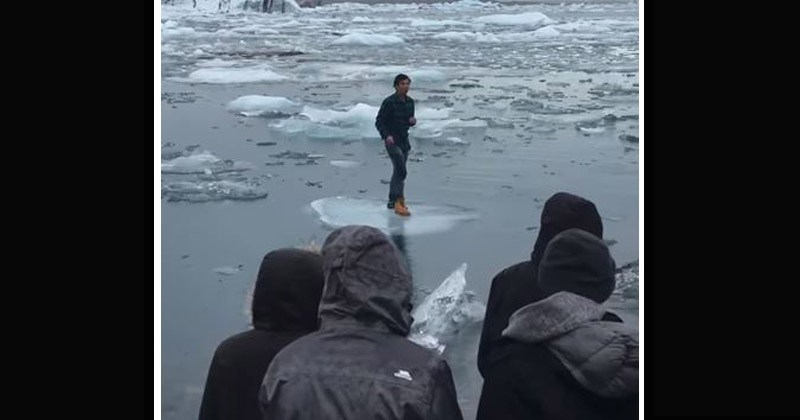 Video Dumb Tourist In Iceland Gets Stuck On An Iceberg, Floats Away