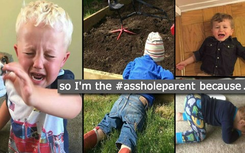 Snapchats of Toddlers and kids pushing their limits and throwing tantrums for the most simple of reasons.