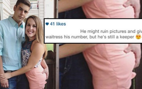 He may give our waitress his number but he's still a keeper - Cringe Inducing Moments From Social Media