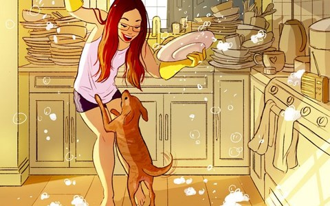 comics capturing the joy of having a dog