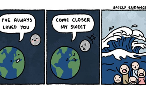 Collection of funny web comics from Safely Endangered.